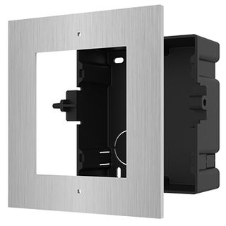 HIKVISION, Intercom, Gen 2, 1 Module, Flush mount Stainless frame, fits 1 module, Plastic backbox, with accessories, box 134×135×56 mm