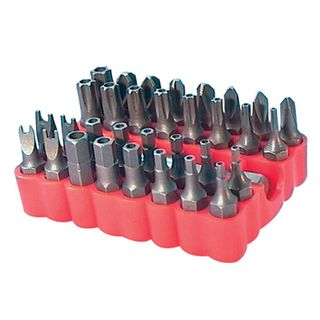NETDIGITAL, Security bit set, 33 piece, Suits Hex drive handles,