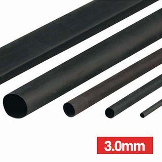 NETDIGITAL, Heat shrink tubing, Black, 3.0mm, 1.2m length, 2:1 shrink ratio,