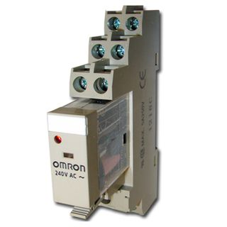 OMRON, Relay, 240V AC, DPDT, 240V AC 5A contacts with barrier isolation, Includes 1078YK base,