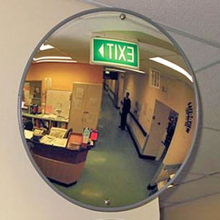 "SAFE-T-VIEW, Security mirror, Round, 450mm (18"") diameter, Includes mounting bracket,"