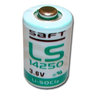 BATTERY, 3.6 Volt lithium 1/2 AA size,