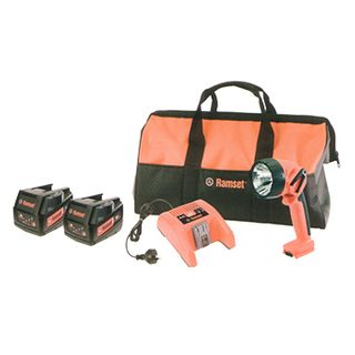 RAMSET, Lithium-Ion Base kit, includes CCR18 charger, 2x CBATR18 3.0 Ah 18V Li-on batteries, CTR18 18V Torch and CKITBAG Kit Bag,