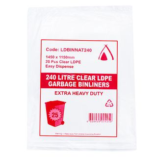 IKON 240LT 1500X1150 CLR XHD LD BIN BAGS