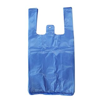 PLASTIC CARRY BAG SMALL BLUE [5000]
