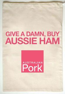PRINTED CALICO HAM BAGS 400X600MM [25]