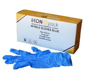 GLOVES NITRILE SMALL BLUE