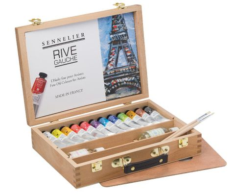 Rive Gauche oils wooden set
