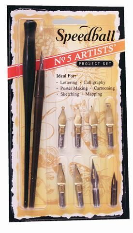 Speedball No.5 Artist Pen Set
