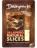 CHEESE SLICES JALAPENO 200GM DAIRYWORKS
