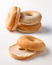 BAGELS PLAIN 90GM (40) FRENCH BAKERY #150