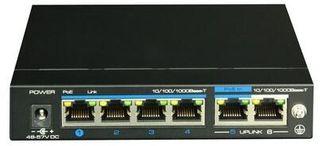 UTEPO 4 Port + 2 Uplink Gigabit PoE Powered Switch