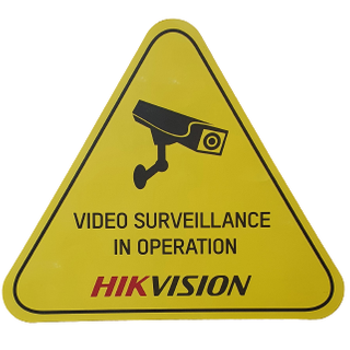 Hikvision CCTV Warning Label