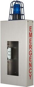 Aiphone EMERGENCY Wall Box with Caged Light