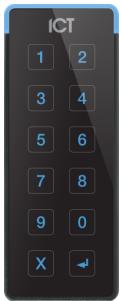 ICT Protege TSEC Mifare/Desfire 13.56MHz/125MHz Reader Keypad + Bluetooth - Bla