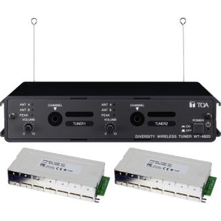 TOA Wireless Microphone Tuner Dual F01 Channel