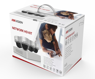 Hikvision 4 Channel HD Wifi Pack with 4 Wifi Domes