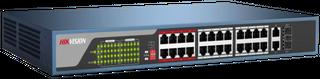 Hikvision L2 24*100M, 2*1000M Port POE Switch Web managed