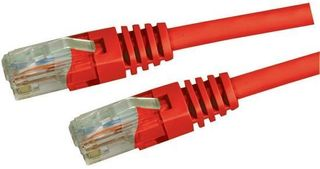 Dynamix 0.3M Cat 5E Red UTP Patch Lead