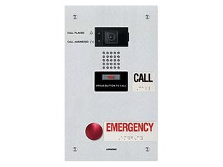 Aiphone IX IP Direct Video Dr Stn with Emergency Button - Flush