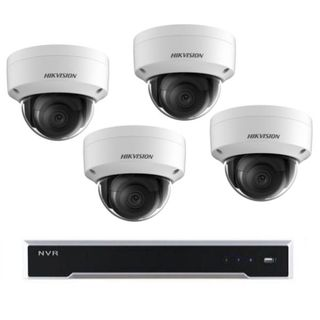 Hikvision 8 Channel NVR with 8 PoE Ports with 4 x 6MP Dome cameras