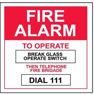 Tyco Fire Alarm To Operate Label
