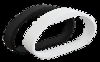 ICT 13.56MHz Mifare Wristband S50 Black Medium