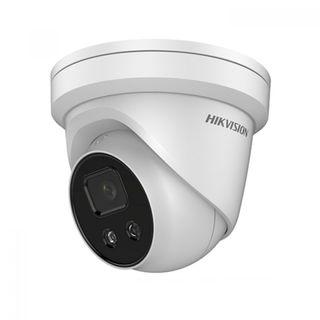 Hikvision 4MP AcuSense Fixed 4mm IP66 Turret IR 30m with strobe & speaker