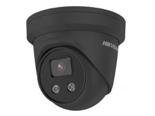 Hikvision 4MP AcuSense Fixed 2.8mm IP66 Turret IR 30m strobe & speaker - Black