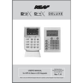 Ness D8X/16X Deluxe User Manual - KPX/Saturn