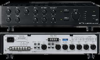 TOA 100V & 4ohm 120W Mixer Amplifier