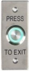 DFM S/Steel Exit Button Green LED IP65 - Architrave Size
