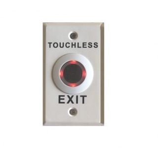 DFM White Touch Less Exit Button IP67