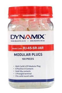 Dynamix RJ45 Plug Solid Core Round x 100