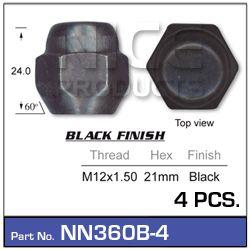 Black Wheel Nut