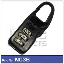 Combination Lock Black
