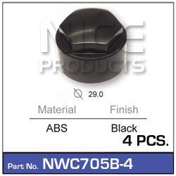 Wheel Nut Cover Black (4)