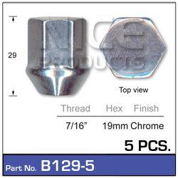 Chrome Nut Pk 5