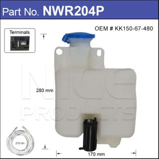 Washer Bottle With Washer Pump