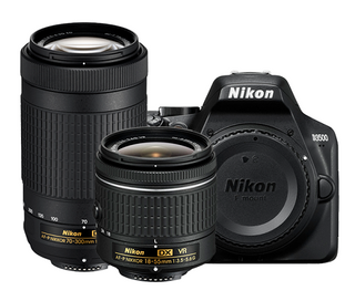 NIKON D3500 DSLR WITH 18-55MM AND 70-300MM VR LENSES