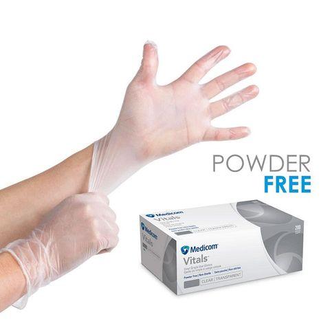 MEDICOM POWDER FREE CLEAR GLOVE S