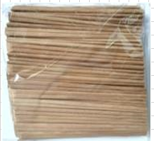 BROWN BAMBOO CHOPSTICK NO PAPER 24CM