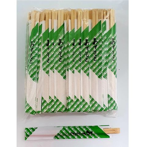 BAMBOO CHOPSTICK WITH PAPER 21CM 100P/30