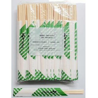 BAMBOO CHOPSTICK WITH PAPER 24CM 100P/30