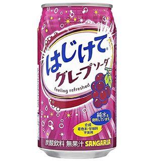 HAJIKETE GRAPE SODA CAN 350ML/24