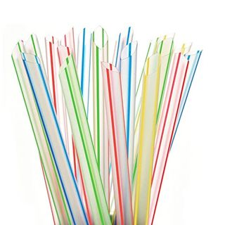 EXTRA JUMBO CLEAR STRIPES STRAW 50P/40