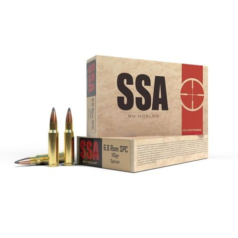 NOSLER SSA 6.8mm SPC 110gr Soft Point (20 ct.)