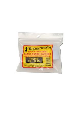 PROSHOT .270-.38 CAL. 100CT. PATCHES