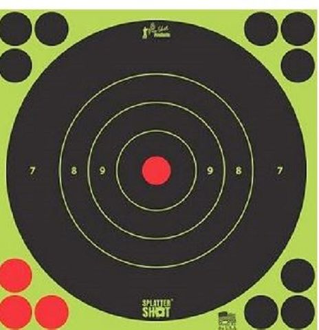 "PROSHOT SPLATTER SHOT® 8"" GREEN BULL'S-EYE TARGET - 6 QTY. PACK"