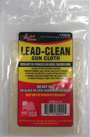 PROSHOT LEAD-CLEAN GUN CLOTH
